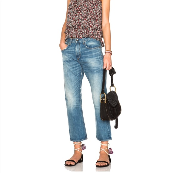 Cheap Get To Buy Rag & Bone/jean Woman Marilyn Distressed Boyfriend Jeans Light Denim Size 25 Rag & Bone Free Shipping Discounts Real Cheap Online XjIbkx3
